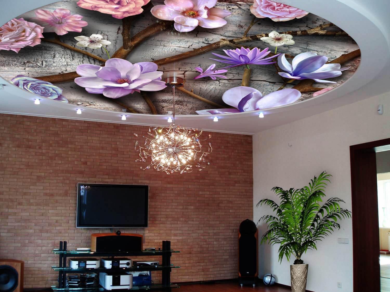 как подобрать фотопечать на натяжной потолок можно